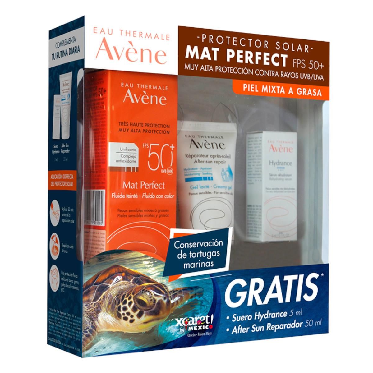 A-Kit Avene Mat Perfect + Aftersun 50Ml + Suero Hydrance 5Ml