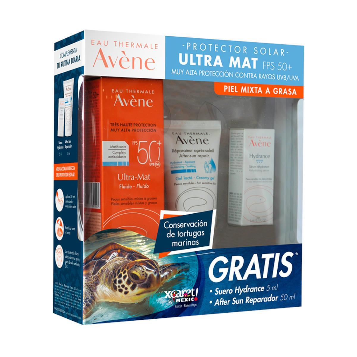 A-Kit Avene Ultra Mat 50Ml + Aftersun 50Ml + Suero Hydrance 5Ml