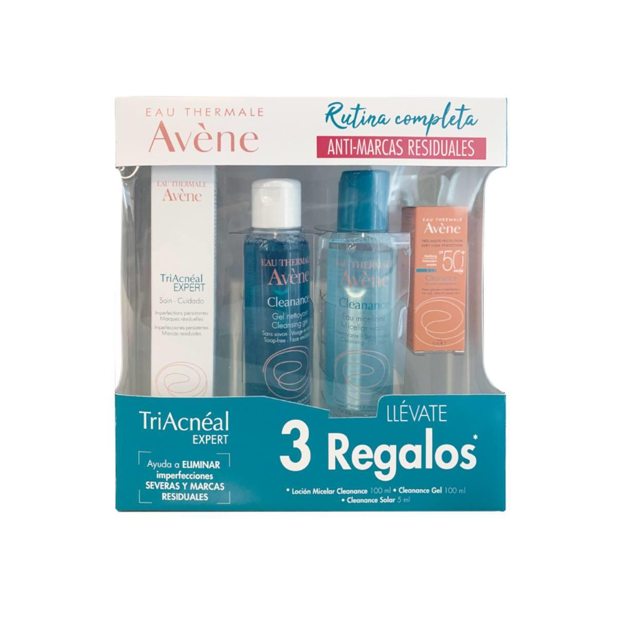 A-Kit Triacneal 30Ml +Gratis Gel Limpiador 100Ml+ Locíon Micerlar 100Ml + Cleanance Solar 5Ml