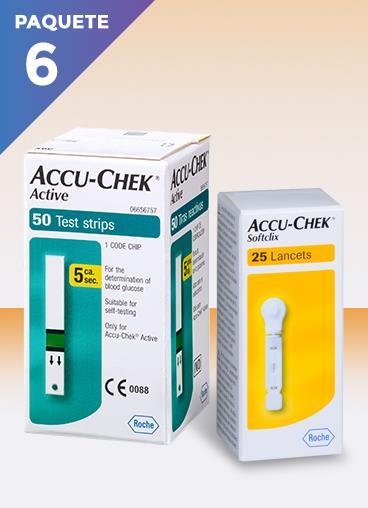 tiras reactivas y lancetas accu chek active-para una medicion correcta de la glucosa