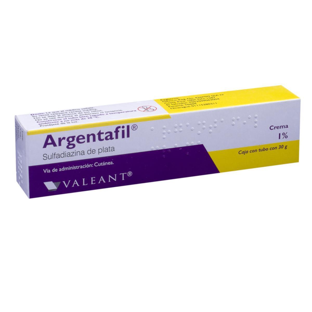 Argentafil Crema Al 1% Tubo De 30 G