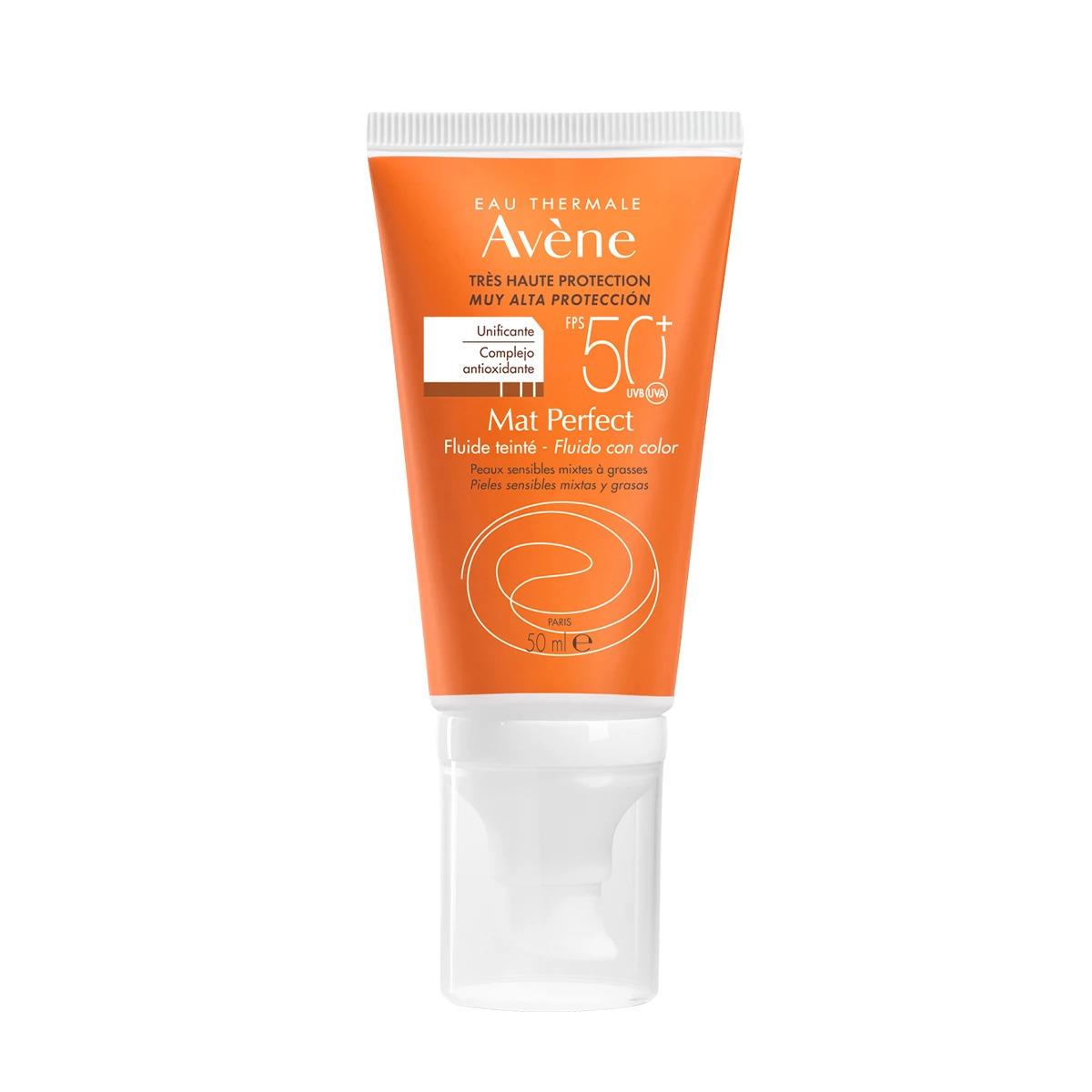 Avene Fluido Mat Perfect Toque Seco Con Color 50Ml