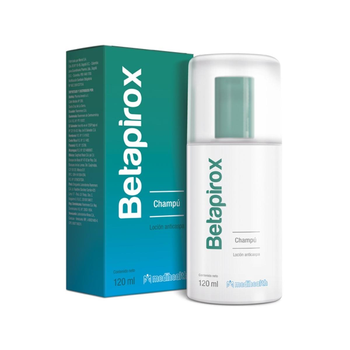 Betapirox Shampoo Loción 120 Ml