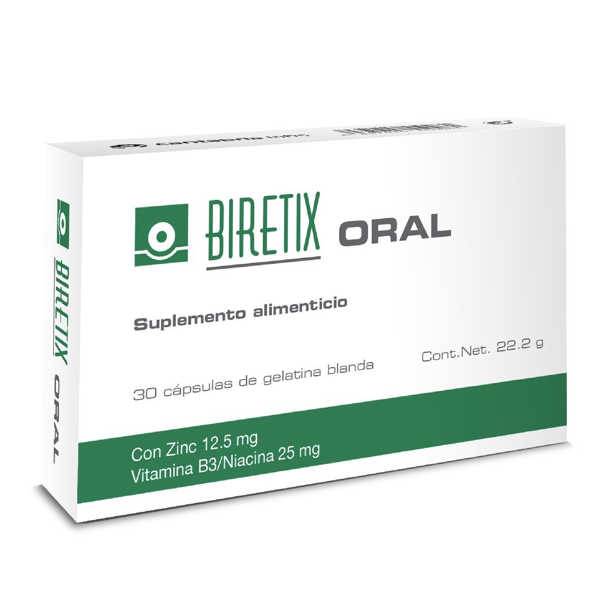 Biretix Oral 30 Cápsulas