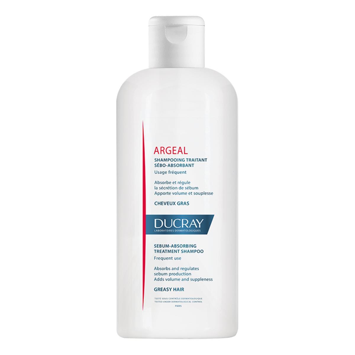 Ducray Argeal Shampoo Seboabsorbente Para Cabello Graso 200Ml