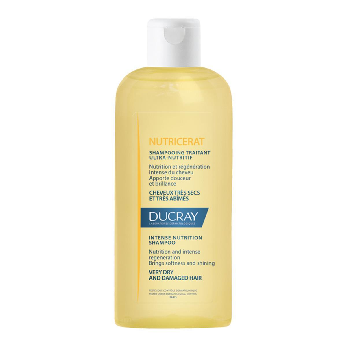 Ducray Nutricerat Shampoo Para Cabello Seco Y Puntas Abiertas 200Ml