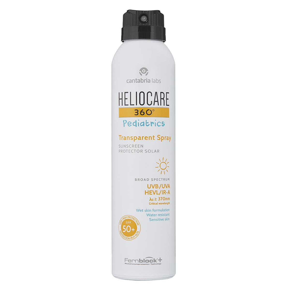 Heliocare 360 Fps 50+ Spray Pediatrico Transparente 200 Ml