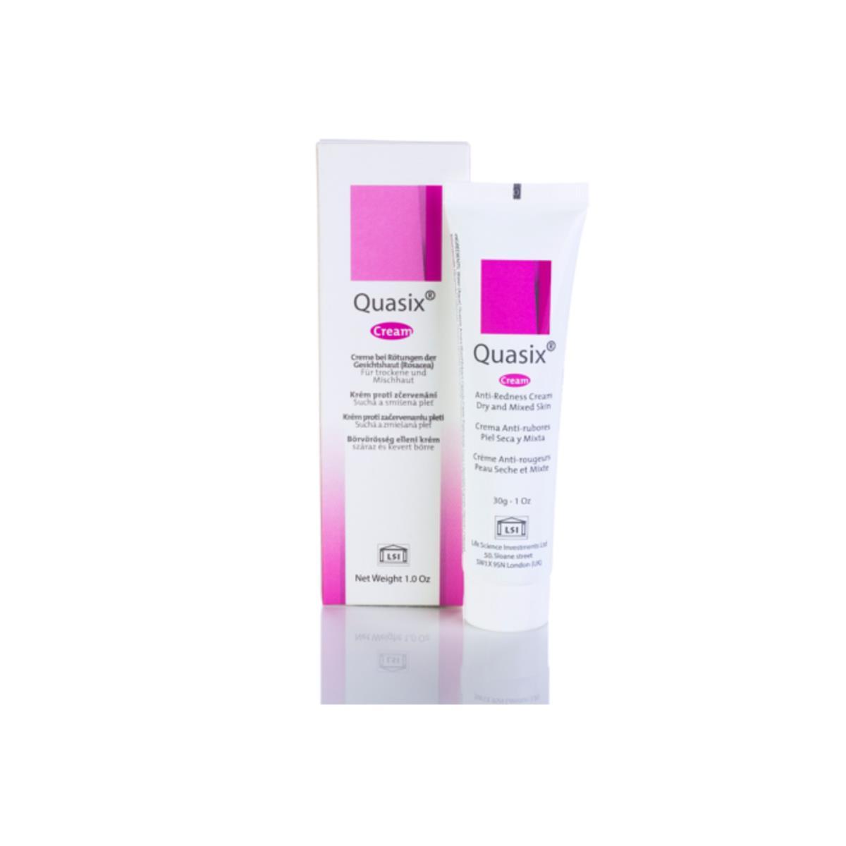 Quasix Crema Anti-Rubores Piel Seca Y Mixta 30 Gms