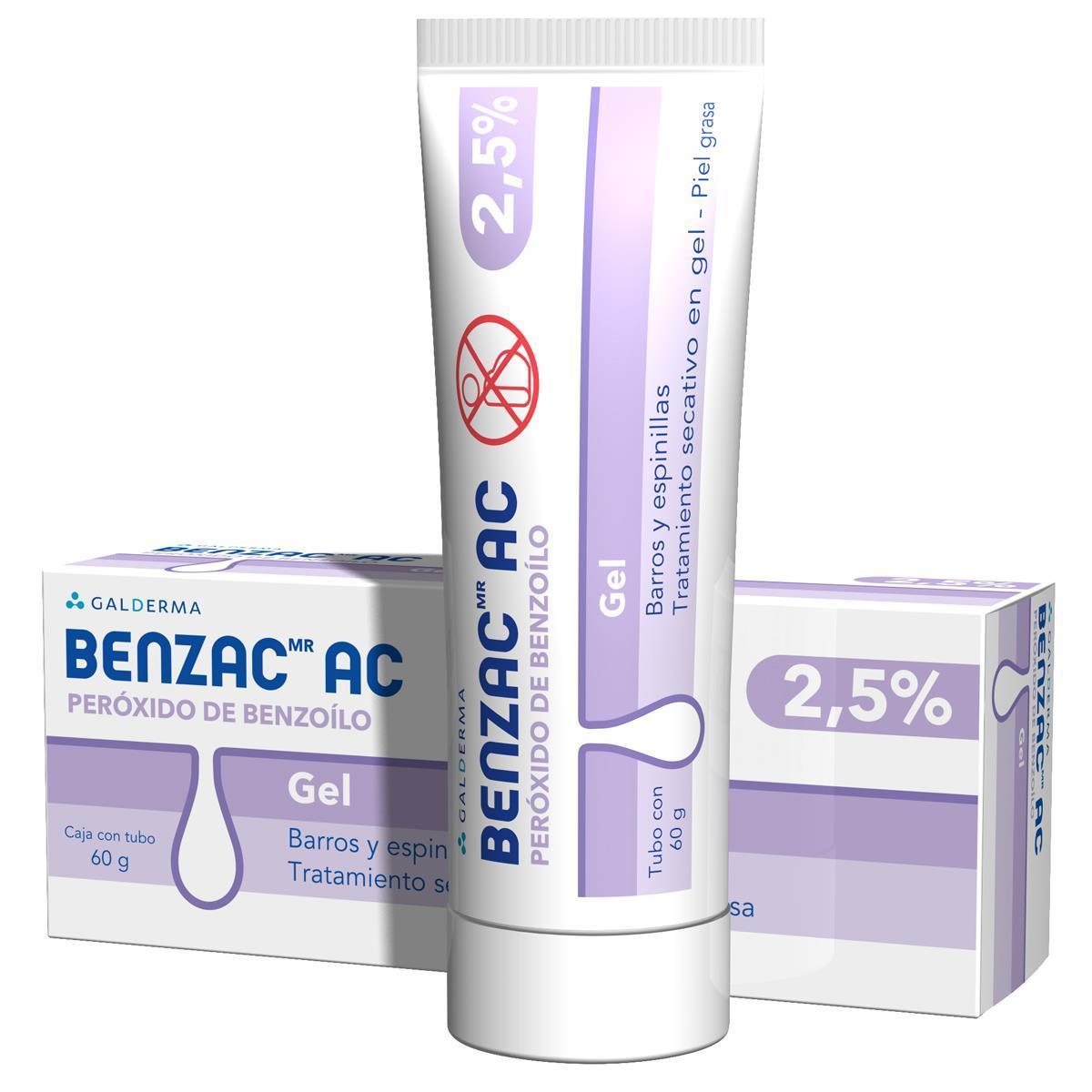Benzac-Ac Gel 2.5% 60 Gr