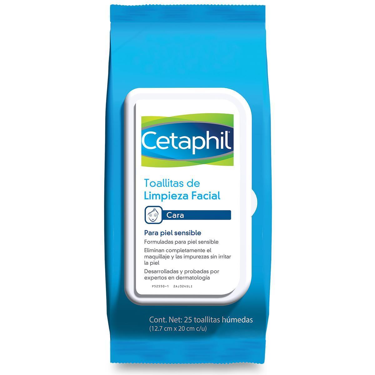 Cetaphil Toallitas De Limpieza Facial 25 Piezas