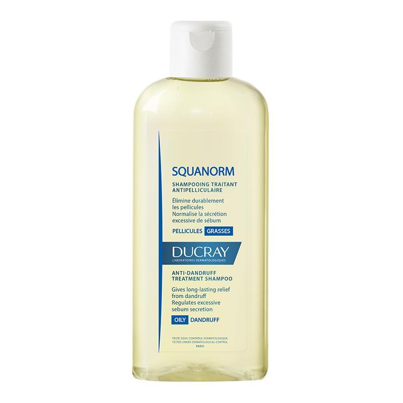 Ducray Squanorm Shampoo Cuidado Para La Caspa Grasa 200Ml