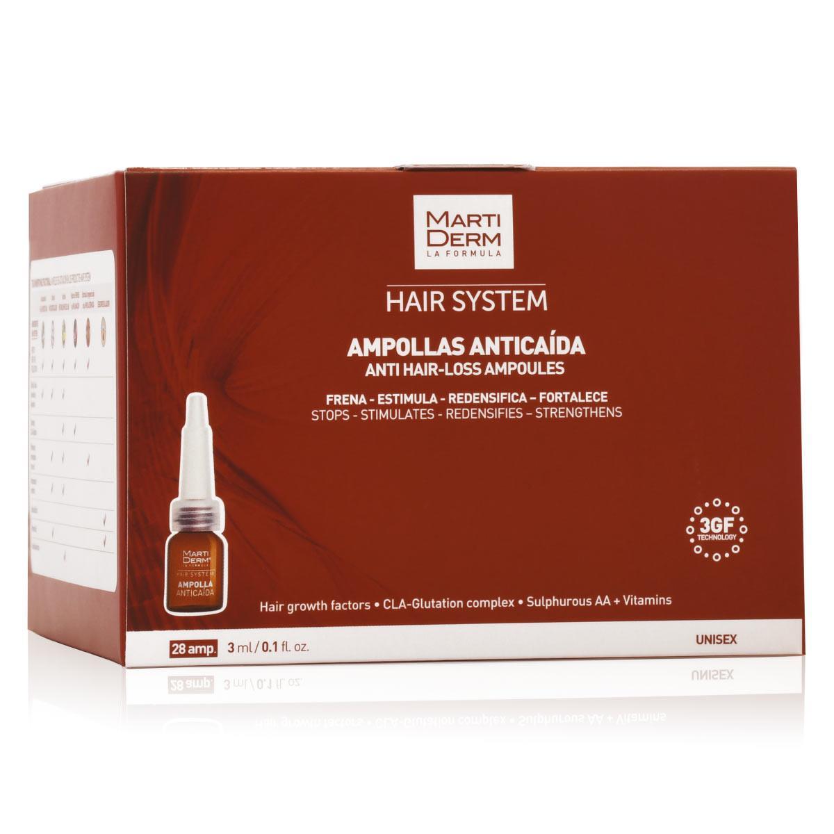 Hair System Hgf X 3 Ampolletas Anti-Caída 28U