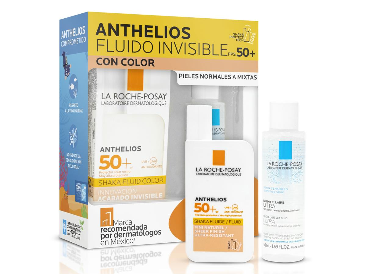 Pack Anthelios Shaka Con Color Fps 50 + Effaclar Micelar 50Ml Ver20