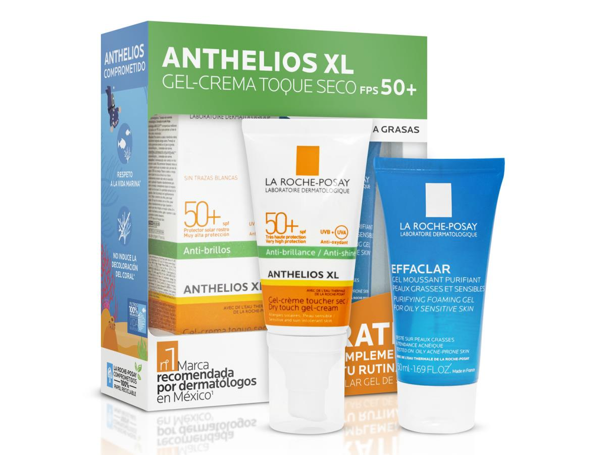 Pack Anthelios Toque Seco Fps-50 50Ml + Effaclar Gel 50Ml Ver20