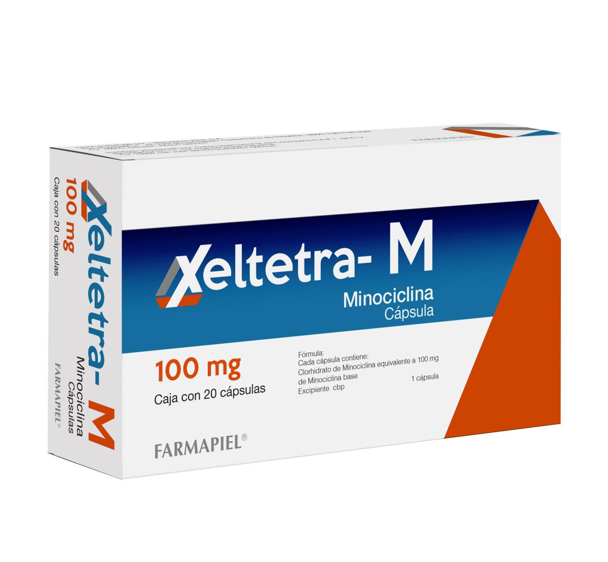 Xeltetra- M 100Mg. 12 Capsulas